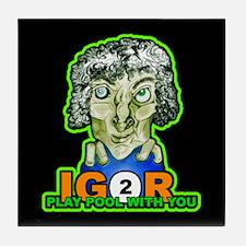 Billiard Halloween Igor 2 Play Tile Coaster