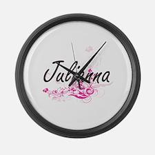 Julianna Artistic Name Design wit Large Wall Clock
