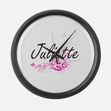 Juliette Artistic Name Design wit Large Wall Clock