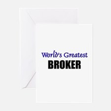 Worlds Greatest BROKER Greeting Cards (Pk of 10)