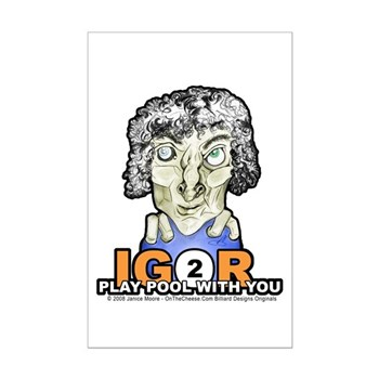Igor To Play Pool With You Billiards Halloween Poster