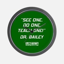 SEE ONE, DO ONE... Wall Clock