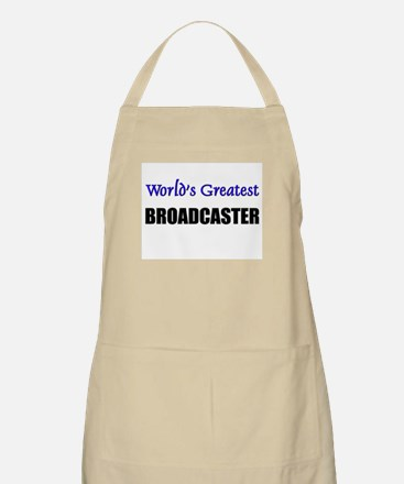 Worlds Greatest BROADCASTER BBQ Apron