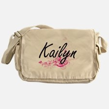 Kailyn Artistic Name Design with Flo Messenger Bag