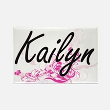 Kailyn Artistic Name Design with Flowers Magnets