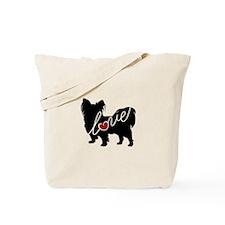 Papillion Love Tote Bag