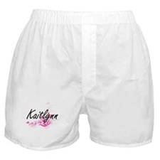 Kaitlynn Artistic Name Design with Fl Boxer Shorts