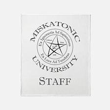 Miskatonic-Staff Throw Blanket