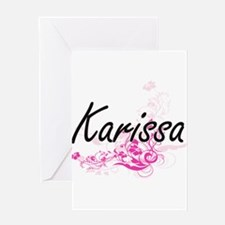 Karissa Artistic Name Design with F Greeting Cards