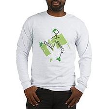 Cute Cross Country Runner Long Sleeve T-Shirt