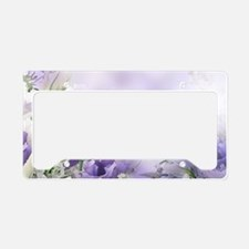 Beautiful Floral License Plate Holder