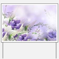 Beautiful Floral Yard Sign