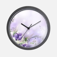Beautiful Floral Wall Clock