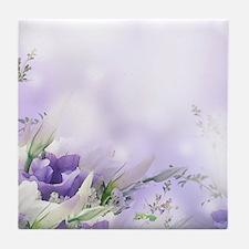 Beautiful Floral Tile Coaster