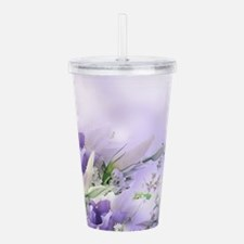 Beautiful Floral Acrylic Double-wall Tumbler