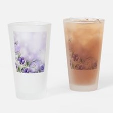Beautiful Floral Drinking Glass
