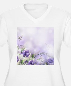 Beautiful Floral Plus Size T-Shirt