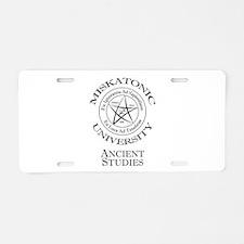 Miskatonic-Ancient Aluminum License Plate