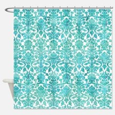 Funny Teal Shower Curtain