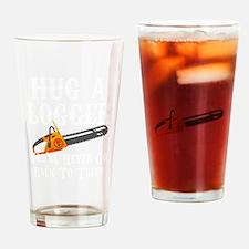 Cute Logging Drinking Glass