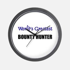 Worlds Greatest BOUNTY HUNTER Wall Clock