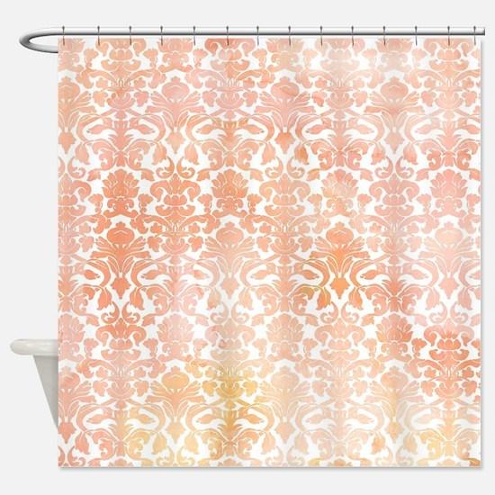 Funny Orange Shower Curtain