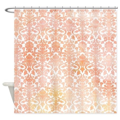 Delightful Peach Shower Curtains Cafepress