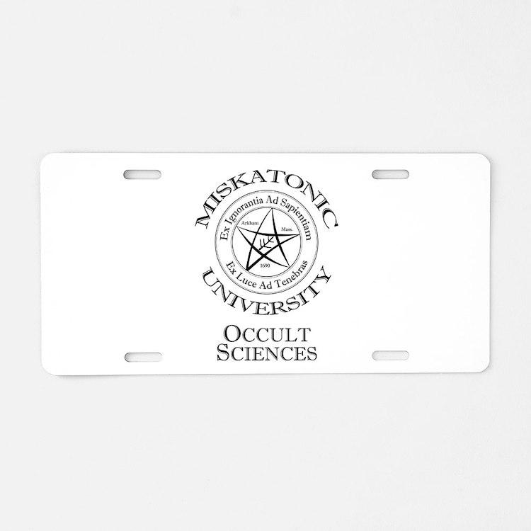 Miskatonic - Occult Aluminum License Plate
