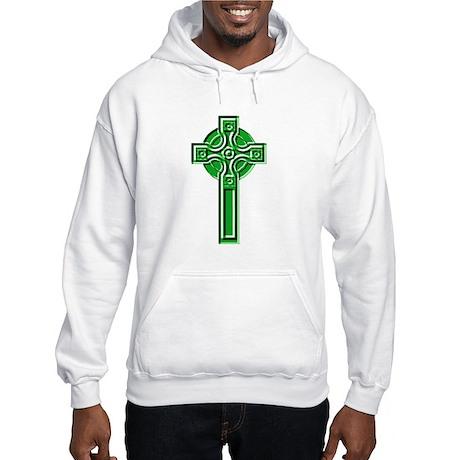 Celtic Ringed Cross Hooded Sweatshirt
