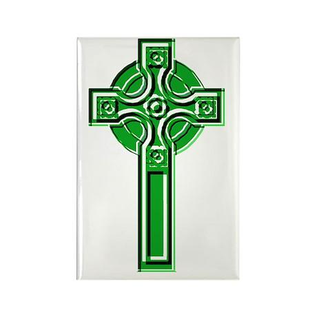 Celtic Ringed Cross Rectangle Magnet
