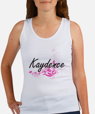 Kaydence Artistic Name Design with Flower Tank Top