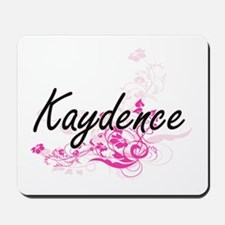 Kaydence Artistic Name Design with Flowe Mousepad