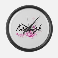 Kayleigh Artistic Name Design wit Large Wall Clock