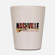 Nashville Music City USA Shot Glass