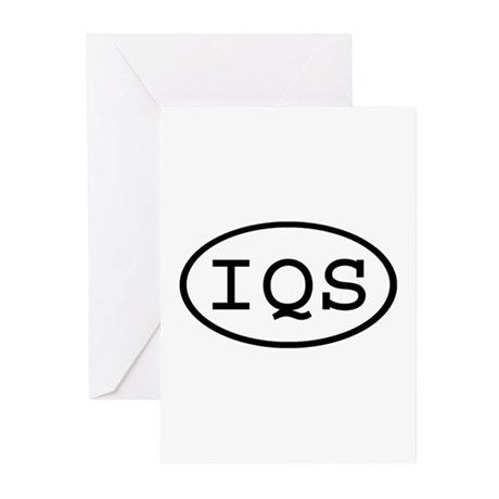 IQS Oval Greeting Cards (Pk of 10)