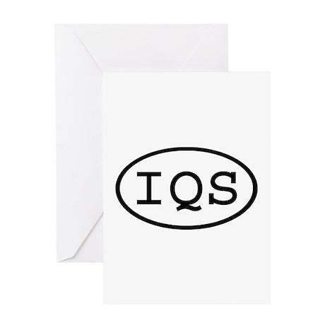IQS Oval Greeting Card