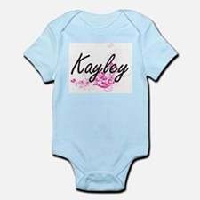 Kayley Artistic Name Design with Flowers Body Suit
