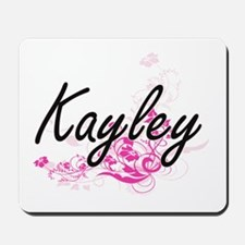 Kayley Artistic Name Design with Flowers Mousepad