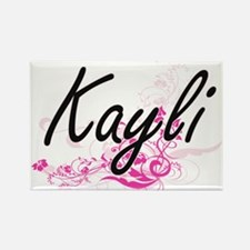 Kayli Artistic Name Design with Flowers Magnets