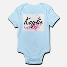 Kaylie Artistic Name Design with Flowers Body Suit