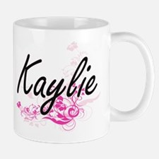 Kaylie Artistic Name Design with Flower Mugs