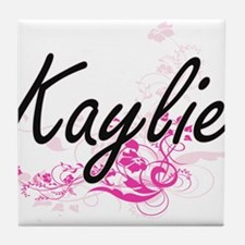 Kaylie Artistic Name Design with Flow Tile Coaster