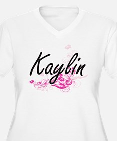 Kaylin Artistic Name Design with Plus Size T-Shirt