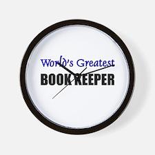 Worlds Greatest BOOK KEEPER Wall Clock