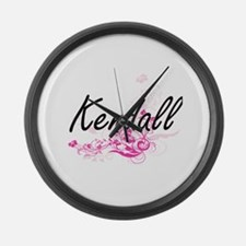 Kendall Artistic Name Design with Large Wall Clock
