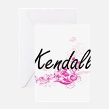 Kendall Artistic Name Design with F Greeting Cards