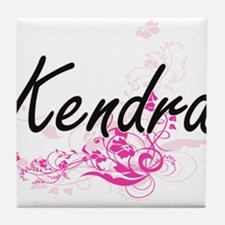 Kendra Artistic Name Design with Flow Tile Coaster
