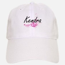 Kendra Artistic Name Design with Flowers Baseball Baseball Cap