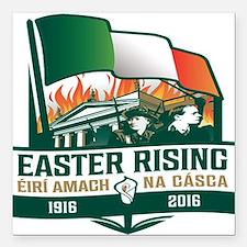"Easter Rising (Gaelic) Square Car Magnet 3"" x 3"""