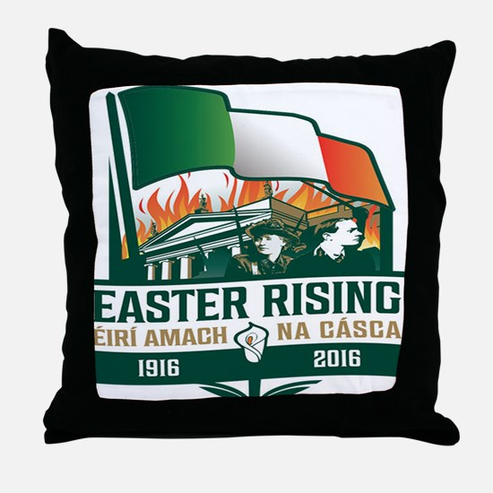 Easter Rising (Gaelic) Throw Pillow